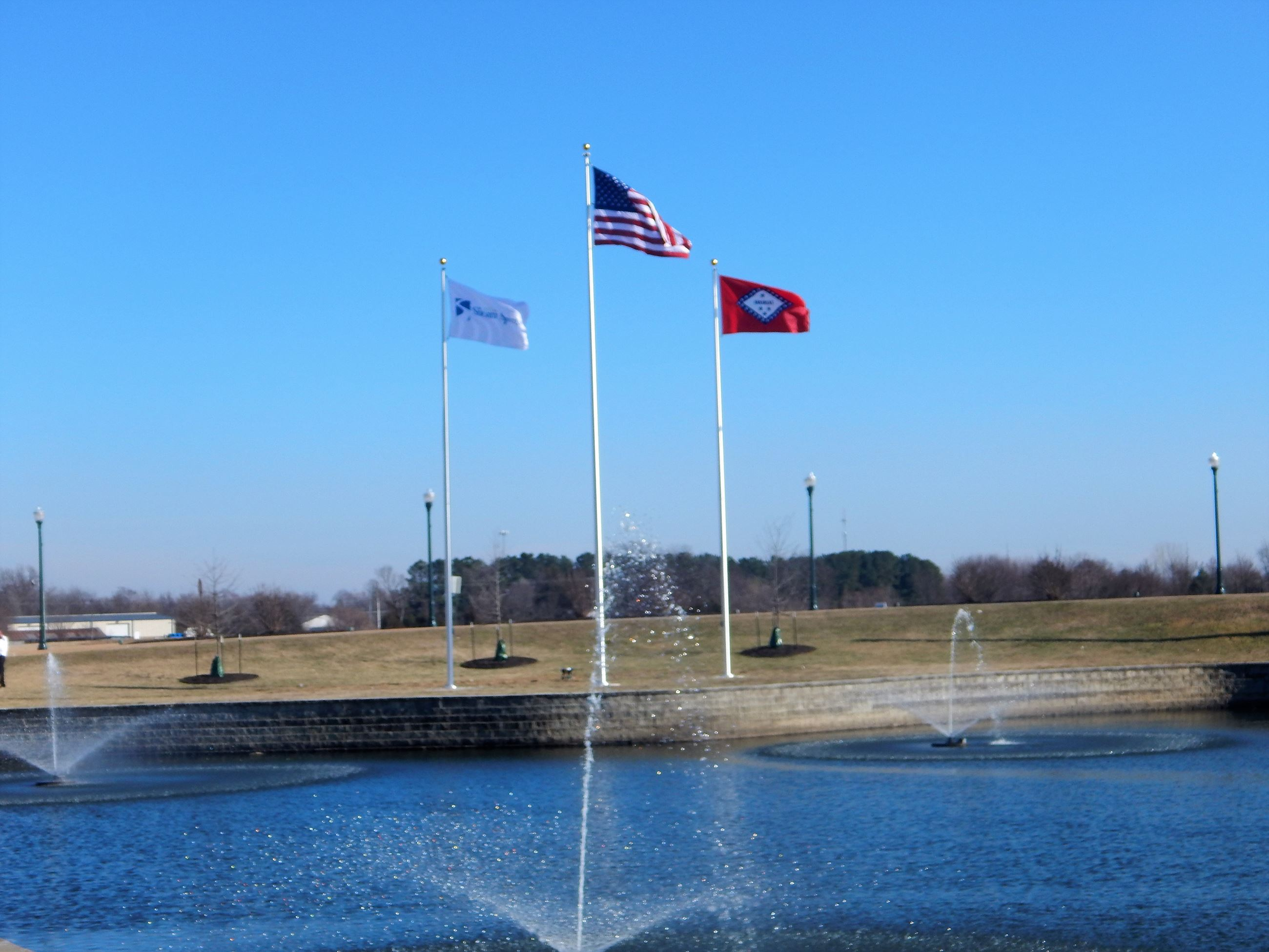 Gateway Fountain Flags