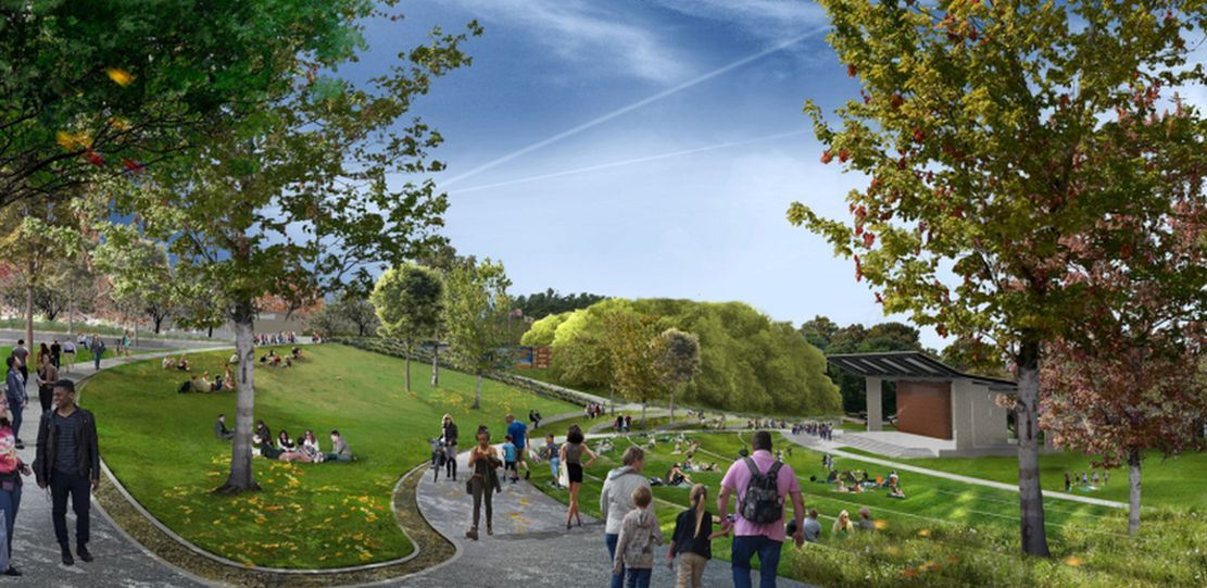 design drawing for lower section- Medical Springs Park