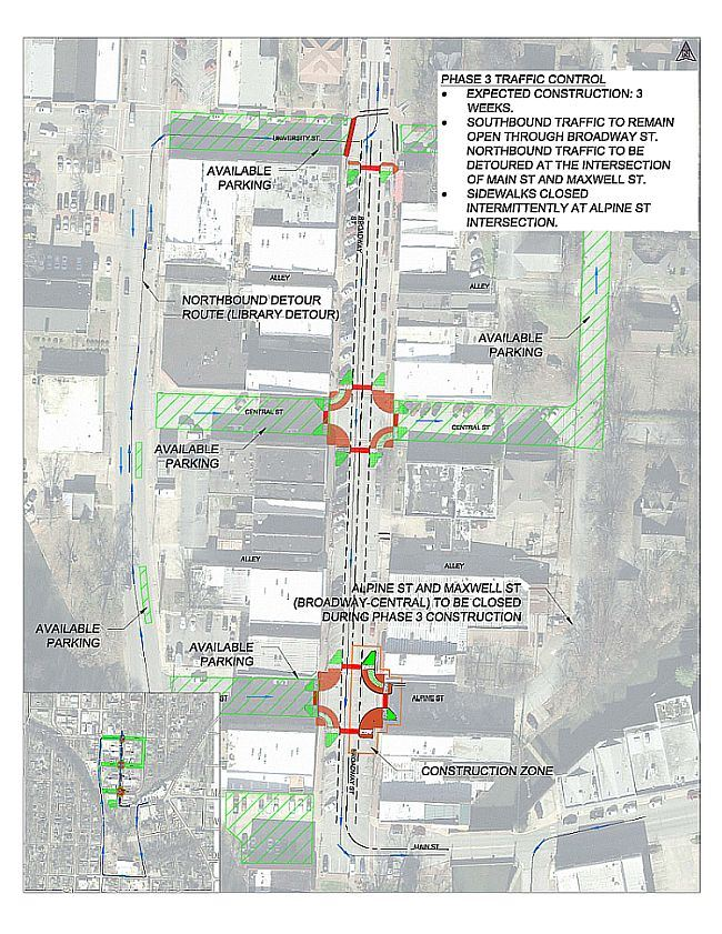 Broadway Traffic Phasing-Phase 3