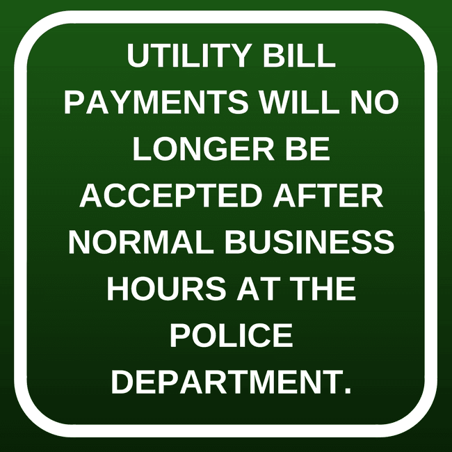 Utility Bill payments not accepted at PD