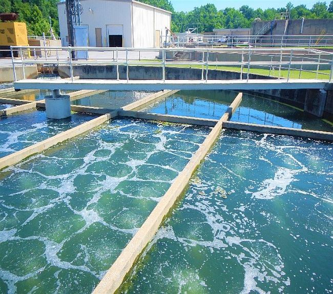 Chlorine basin at Wastewater Treatment Plant