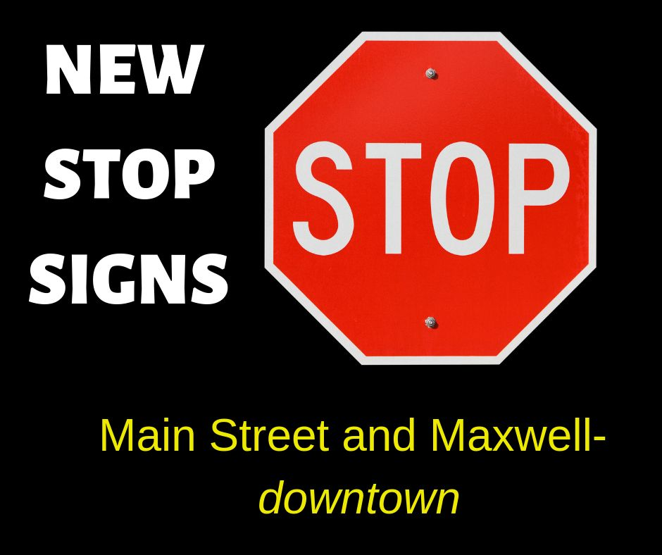 NEW STOP SIGNS