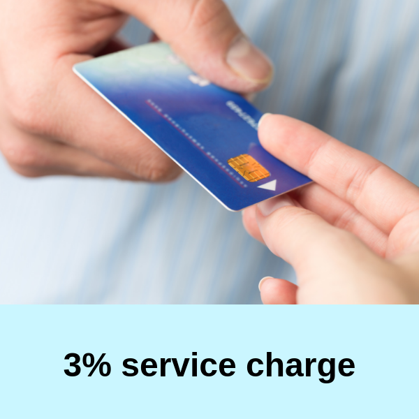 3 percent service charge