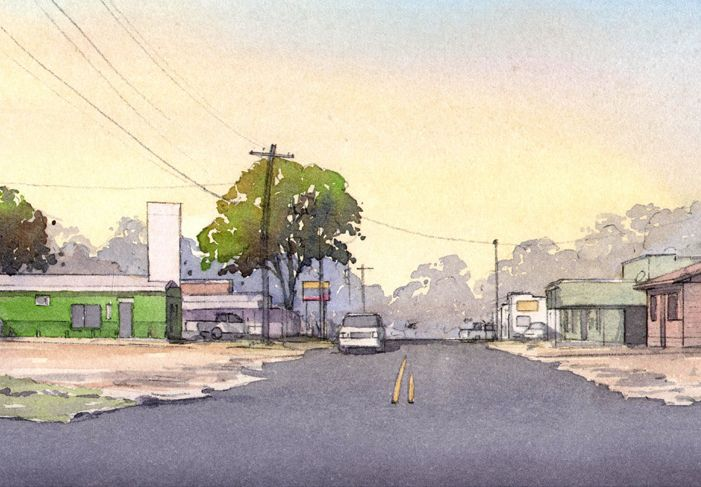 E. Main Street illustration