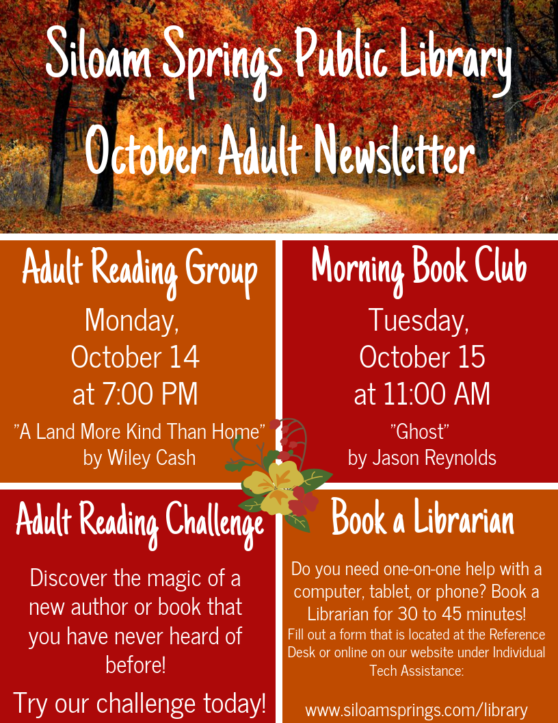 Siloam Springs Public Library Adult Newsletter