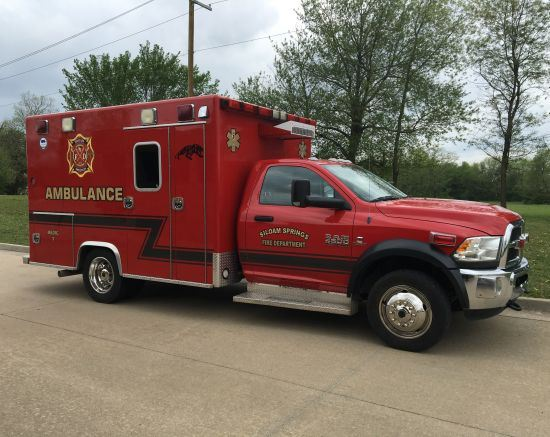 Siloam Springs Fire Department ambulance