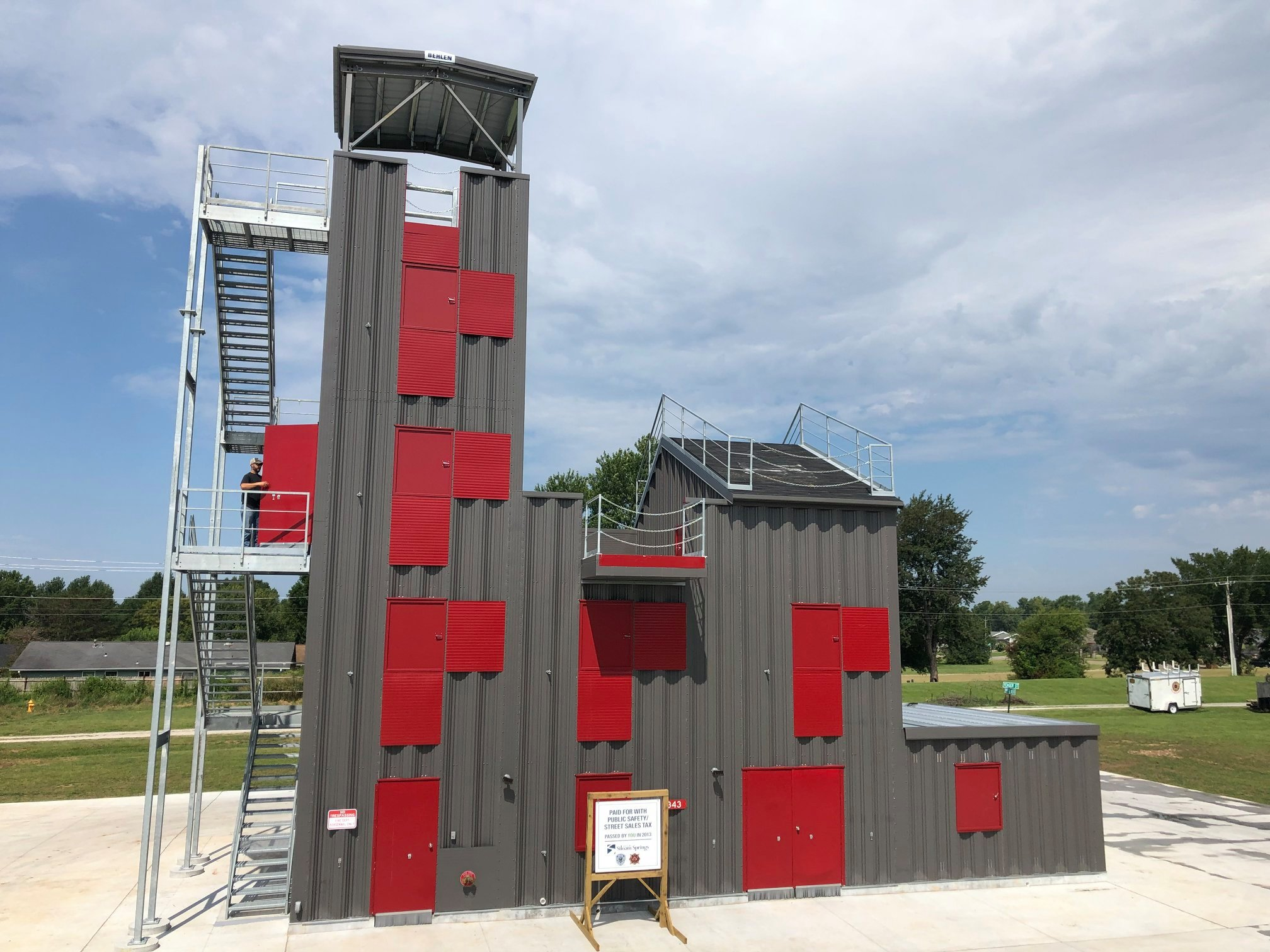 Siloam Springs Fire Department 4 story fire training tower